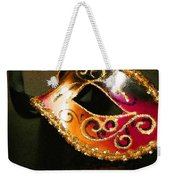 Gold Scroll Masquerade Mask Weekender Tote Bag