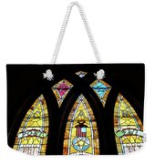 Gold Stained Glass Window Weekender Tote Bag