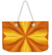 Golden 4 Leaf Clover  Weekender Tote Bag