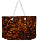 Golden Abstract Weekender Tote Bag
