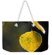 Golden Aspen Leaf Weekender Tote Bag