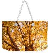 Golden Autumn View Weekender Tote Bag