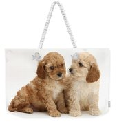 Golden Cockerpoo Puppies Weekender Tote Bag