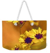 Golden Coreopsis Wildflowers  Weekender Tote Bag
