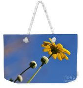 Golden Daisy On Blue Weekender Tote Bag