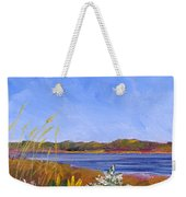 Golden Delaware River Weekender Tote Bag