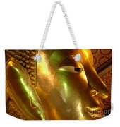 Golden Face Of Buddha Weekender Tote Bag