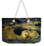 Golden Fall Reflection Weekender Tote Bag