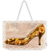Golden Floral Royalty Shoe Weekender Tote Bag