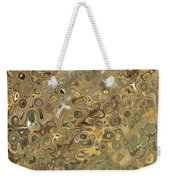 Golden Fluidity Weekender Tote Bag
