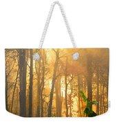 Golden Fog Thru The Trees Weekender Tote Bag