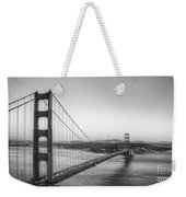 Golden Gate Black And White Weekender Tote Bag