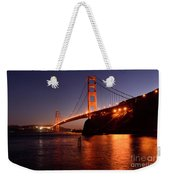 Golden Gate Bridge At Night 2 Weekender Tote Bag