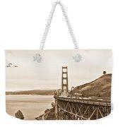 Golden Gate Bridge In Sepia Weekender Tote Bag
