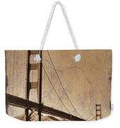 Golden Gate Bridge Sepia Weekender Tote Bag