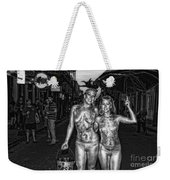 Golden Girls Of Bourbon Street - Black And White Weekender Tote Bag
