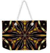 Golden Kaleidoscope Weekender Tote Bag