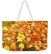Golden Maple Leaves Weekender Tote Bag