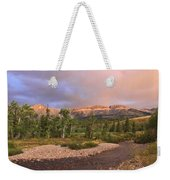 Golden Montana Mountain Weekender Tote Bag