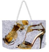 Golden Studded Stilettos Weekender Tote Bag