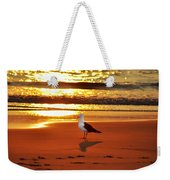 Golden Sunrise Seagull Weekender Tote Bag