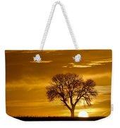 Golden Sunrise Silhouette Weekender Tote Bag