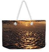 Golden Sunset On The Sand Beach Weekender Tote Bag by Setsiri Silapasuwanchai