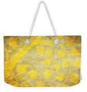 Golden Tree Pattern On Paper Weekender Tote Bag