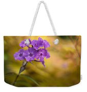 Golden Violets Weekender Tote Bag