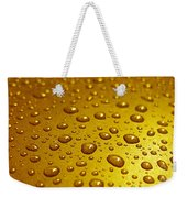 Golden Water Drops. Business Card. Invitation Etc. Weekender Tote Bag