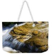 Golden Waterfall Glacier National Park Weekender Tote Bag