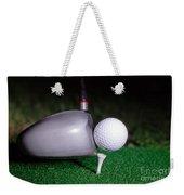 Golf Club Hitting Ball Weekender Tote Bag