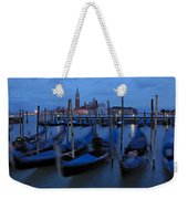 Gondolas At Dusk In Venice Weekender Tote Bag