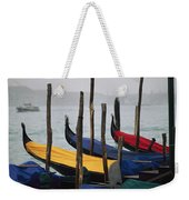 Gondolas At Harbor On A Misty Day Weekender Tote Bag