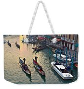Gondolieri At Grand Canal. Venice. Italy Weekender Tote Bag