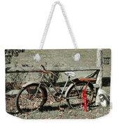 Good Ole Times Bike And Hand Pump Weekender Tote Bag