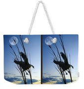 Goose At Dusk - Cross Your Eyes And Focus On The Middle Image Weekender Tote Bag