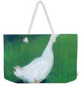 Goose On Green Weekender Tote Bag