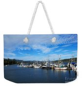 Government Wharf In Sooke Harbour Weekender Tote Bag