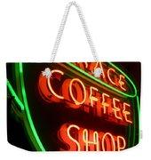 Grace Coffee Shop Neon Weekender Tote Bag