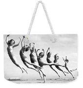 Graceful Line Of Beach Dancers Weekender Tote Bag