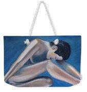 Gracefully Blue Weekender Tote Bag