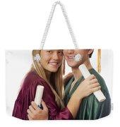 Graduation Couple Weekender Tote Bag