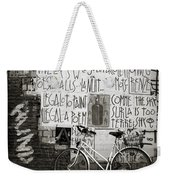 Graffiti And Bicycle Weekender Tote Bag