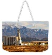 Grain Silo Below Wasatch Range - Utah Weekender Tote Bag