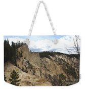 Grand Canyon Cliff In Yellowstone Weekender Tote Bag