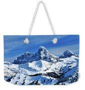 Grand Teton Winter Weekender Tote Bag