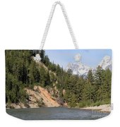 Grand Tetons From Snake River Weekender Tote Bag