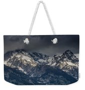 Grand Tetons Immersed In Clouds Weekender Tote Bag