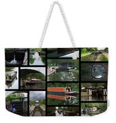 Grand Union Canal Collage Weekender Tote Bag